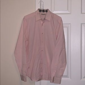 Burberry Button Down- Stretch Cotton Poplin Shirt